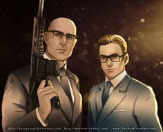 Kingsman Eggsy and Merlin by maorenc.deviantart.com on @DeviantArt Merlin Kingsman, Kingsman Movie, Tailor Shop, Kings Man, Taron Egerton, Colin Firth, Dressed To The Nines, Film Books, Boyfriend