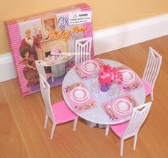 find best value and selection for your gloria dollhouse furniture 4 chairs dining room playset for barbie search on ebay worlds leading marketplace barbie doll house furniture sets