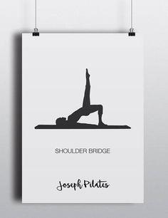 PILATES POSTER  Set 2 of 3 Pilates Poster  Pilates Art Print