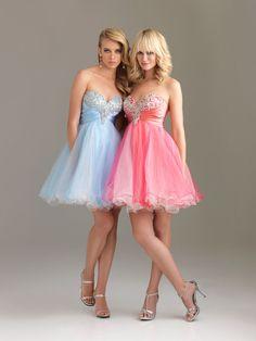 Strapless Sweetheart Embroidery Drape Light Sky Short Prom Dress