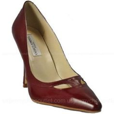 Jimmy Choo Red Merrit Pointed Patent Leather Shoes -$173