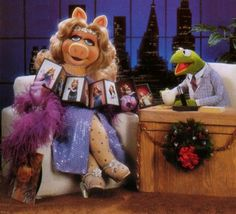 The Tonight Show, Miss Piggy, Kermit with Frank Oz and Jim Henson Jim Henson, Kermit, Statler And Waldorf, Frank Oz, Bernadette Peters, Johnny Carson, Fraggle Rock, The Muppet Show, Late Night Talks
