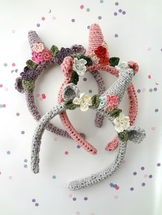 Little Treasures: Crochet Unicorn Headbands