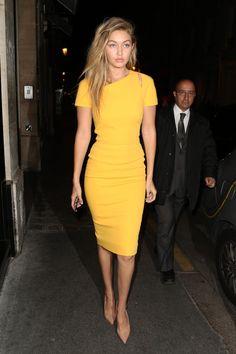 Gigi Hadid Saint Laurent Photoshoot Dress – Gigi Hadid Fashion Photos
