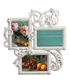 Loving this Antique Cream Decoro Three-Photo Frame on #zulily! #zulilyfinds