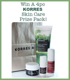 WIN A 4pc KORRES Skin Care Prize Pack Worth Over $190! Open to CAN & US Body Butter, Coconut, Packing, Personal Care, Skin Care, Bottle, Drinks, Bag Packaging, Drinking