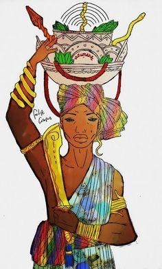 Esú é esfera. O centro da terr. Yoruba Religion, Old Shoes, Orisha, Black Women Art, Character Portraits, Princess Zelda, Disney Princess, Art Journal Inspiration, Beautiful Paintings