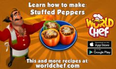 I just learnt to prepare a fantastic Stuffed Peppers! Download World Chef for free to cook your own!:  https://itunes.apple.com/app/id1010677881  #WorldChef