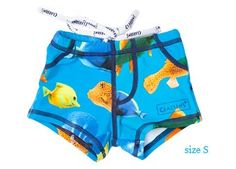 zwemboxertje boordevol vissen