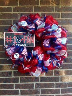 Houston Texans Deco Mesh Wreath