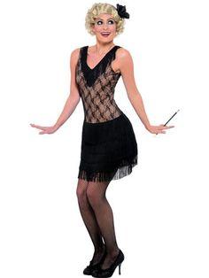 Flapper/Charleston All That Jazz Fancy Dress Costume Vestido Charleston, Costume Charleston, Charleston Dance, 1920s Flapper Costume, Gatsby Costume, Girl Costumes, Costumes For Women, Ladies Fancy Dress, Black Costume