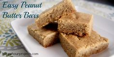 Peanut Butter Bars  |  Happy Hour Projects