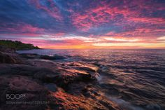 A New Dawn by MaxFoster  sunrise seascape mn minnesota duluth north shore lake superior tettegouche temperance river state pa