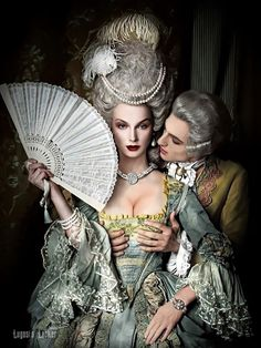 The Baroque/Rococo era was so elegant. Rococo Fashion, Vintage Fashion, Victorian Fashion, Vintage Clothing, Foto Fashion, 18th Century Fashion, Rococo Style, Historical Costume, Madame