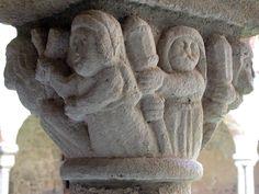 Abbatiale St-André de Valaudieu (Haute-Loire) - région Auvergne - chapiteau Middle Ages, Garden Sculpture, Roman, Architecture, Decoration, Outdoor Decor, Big Top, Auvergne, Arquitetura