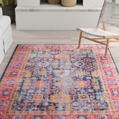 Mistana™ Ashburn Dark Blue Rug | Wayfair