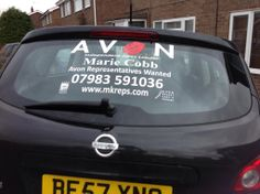 73 best Avon Signs and Decals images on Pinterest   Avon     A car in the UK with one of our Avon Car Signs on it