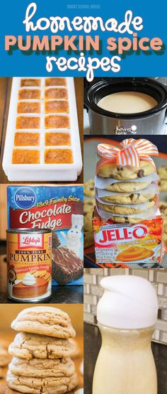 Homemade Pumpkin Spice Recipes - If you love fall recipes as much as I do - try these! Fall Desserts, Delicious Desserts, Dessert Recipes, Yummy Food, Pumpkin Recipes, Fall Recipes, Holiday Recipes, Sweet Recipes, Pumpkin Dessert