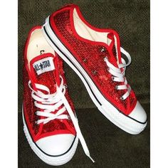 b45c7cd0a71083 there s no place like home.there s no place like home. Converse version of  ruby red slippers low-tops