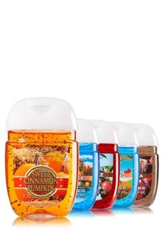 Autumn Adventure - PocketBac Sanitizers 5-Pack - Bath & Body Works - Fall into squeaky clean hands! These miniature must-haves contain skin-loving Aloe & Vitamin E paired with powerful germ fighters to leave hands feeling squeaky clean & silky smooth.