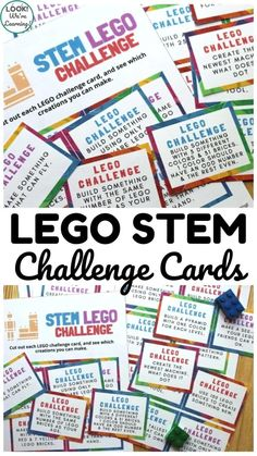 Lego For Kids, Stem For Kids, Stem Projects For Kids, Lego Activities, Calming Activities, Lego Games, Infant Activities, Lego Challenge, Challenge Cards