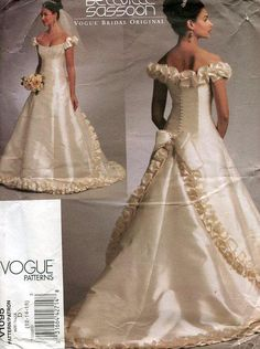 FREE US SHIP Vogue 1095 Designer Bellville Sassoon Wedding Bridal Gown Sewing Pattern Out of Print 2009 Size 6/10 12/16 by LanetzLivingPatterns on Etsy