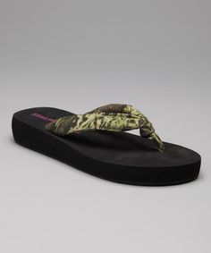 Take a look at this Camo Green Missy Sandal by Realtree on #zulily today!