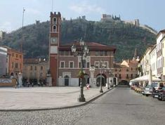 "Marostica, Italy: the castle on the hill.  A city within walls the the ""City of Chess."""