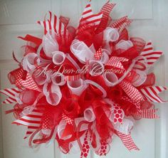 Candy Cane Inspired Spiral Deco
