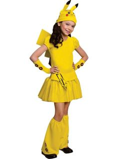 girls pikachu costume deluxe pokemon party city halloween - All Halloween Costumes Party City