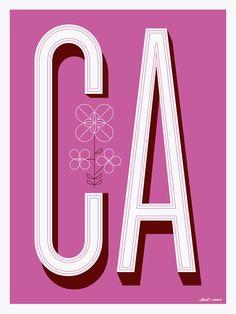 California CA Poster