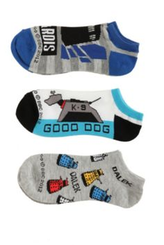Doctor Who No-Show Socks 3 Pair