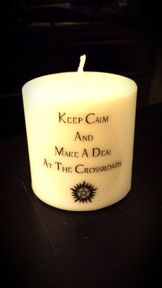 Supernatural Keep Calm by HeathersCandles on Etsy, $10.00