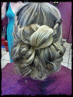 bohemian updo/style #braids #blonde #bridal #wedding #prom #updo #curls