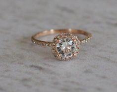 Sparkling brilliant sapphire in a 14k white gold by EidelPrecious