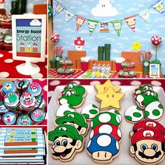 See amazing party ideas today at Party Ideas Daily! 163 Likes 11 Comments - J e n n i f e r  C a r v e r (@banner_events) on Instagram: We love old school video game classics like Super Mario Bros. around here. I taught my oldest (now