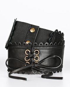 Leather Wide Corset Belt