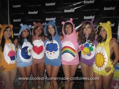 Homemade GROOVAHOLIX Care Bear Group Costume: GROOVAHOLIX Dance Company needed an idea for a great, easy, and COMFORTABLE Halloween costume for a group. So what better group of characters to choose