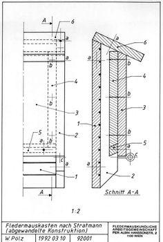 plan pour nichoir à chauves-souris Bat House Plans, Bat Box, Box Design, Planer, Floor Plans, How To Plan, Images, Birds, Nest Box