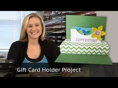 Stampin Up - Flower Frenzy Gift Card Holder - Video Tutorial - Post By Demonstrator Brandy Cox