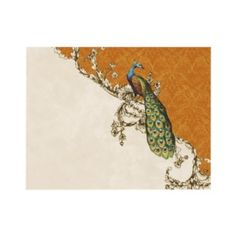 Vintage Peacock & Etchings Wedding Rsvp Card Personalized Invitation