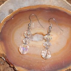 Handcrafted Crystal Pierced Earrings by TrendyCharm on Etsy, $8.00