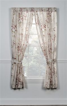 Add elegance to your windows with this Rose Floral Print Rod Pocket Tailored Curtain Panel. Curtains feature flower blooms in ivory, grey, and pink for a versatile look. Panels drape in a soft and beautiful manner. Rod Pocket Curtains, Rose Curtains, Stylish Curtains, Curtains, Panel Curtains, Paneling, Tailored Curtain, Window Toppers, Curtain Styles