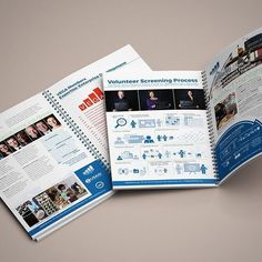 """Simplicity is everything in good design.  This """"yearbook"""" for a client in Washington D.C. uses straightforward info graphics and eye catching illustration to make complicated data simple and engaging."""
