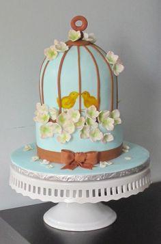 Bridal Shower Birdcage Cake