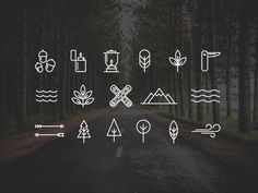 Free Wilderness or Camping Icons