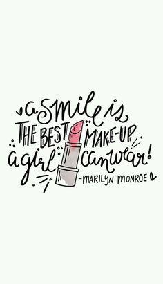 Een lach is de beste make-up die een meisje kan dragen