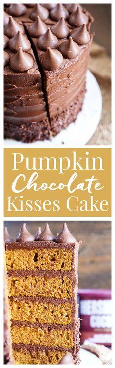 Pumpkin Chocolate Kisses Cake