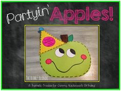 The Bubbly Blonde:  Partyin' Apples Craftivity Freebie!