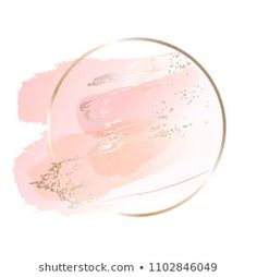 Pastel rose and pink brush strokes and gold lines. Pastel rose and pink brush strokes and gold lines. Pastel Roses, Pink Roses, Pastel Pink, Gold Paint Colors, Fond Design, Floral Logo, Instagram Logo, Flower Backgrounds, Lock Screen Backgrounds